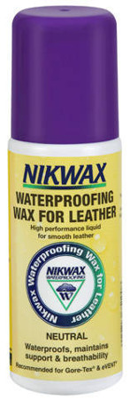 NIKWAX Waterproofing Wax for Leather 125ml with sponge neutral